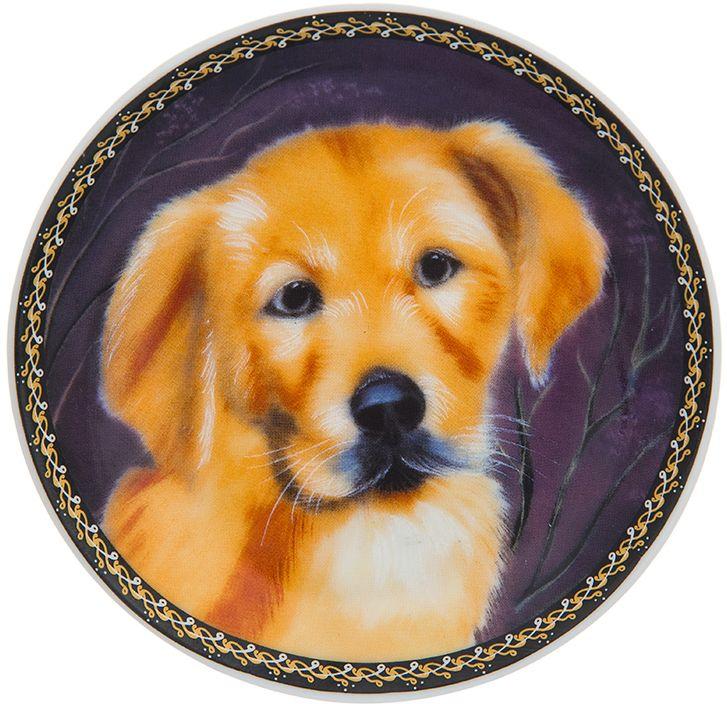 Тарелка декоративная Elan Gallery Барбос, 10 x 10 x 2 см. 504179504179Декоративная тарелка Барбос с символом наступающего 2018 года. Символ 2018 года по восточному (китайскому) календарю - Желтая Земляная Собака, которая весь год будет на страже вашего благополучия. Тарелка станет не только замечательным украшением в традиционном стиле, но и памятным подарком на любой праздник!