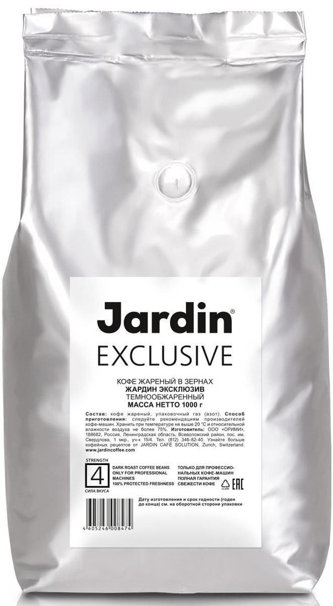 Jardin Exclusive кофе в зернах, 1 кг (темная обжарка)0847-08-ХРКС помощью Jardin Exclusive вы можете легко приготовить чашку ароматного и мягкого эспрессо. Кофе идеален как сам по себе так и для приготовления других напитков. Центрально-американский бленд эспрессо сочетает в себе кофейные зерна из Гватемалы и Никарагуа с добавлением зерен из Индии.