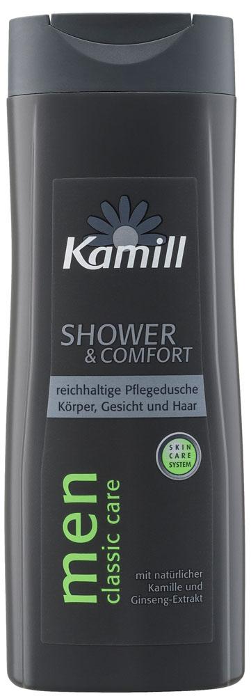 Kamill Шампунь и гель для душа 2в1 Classic для мужчин, 300 мл26957020Универсальный гель-шампунь «2 в 1» предназначен для мытья тела и волос. Гель содержит все необходимые ингредиенты, позволяющие эффективно и мягко очищать кожу и волосы от загрязнения, эффективно ухаживать за кожей головы и волосами, поддерживать в нормальном состоянии структуру волос и кожи, обеспечивать защитный, увлажняющий и кондиционирующий эффект. После использования геля кожа становится свежей, гладкой и ухоженной. В качестве шампуня гель может использоваться для нормальных и сухих волос, так как содержит эффективные увлажнители.Подходит для чувствительной кожи. Содержит ценные экстракты бамбука и ромашки. Бережно и очень мягко ухаживает за волосами и телом. Экстракт бамбука делает кожу гладкой и эластичной, снимает воспаления. Экстракт ромашки действует на кожу успокаивающе. Эффективная формула с технологией Moisture-Tec (особым комплексом по уходу) препятствует образованию сухости кожи после принятия душа. Обладает тонким мужским ароматом. Не содержит красителей, минеральных масел и парафинов.