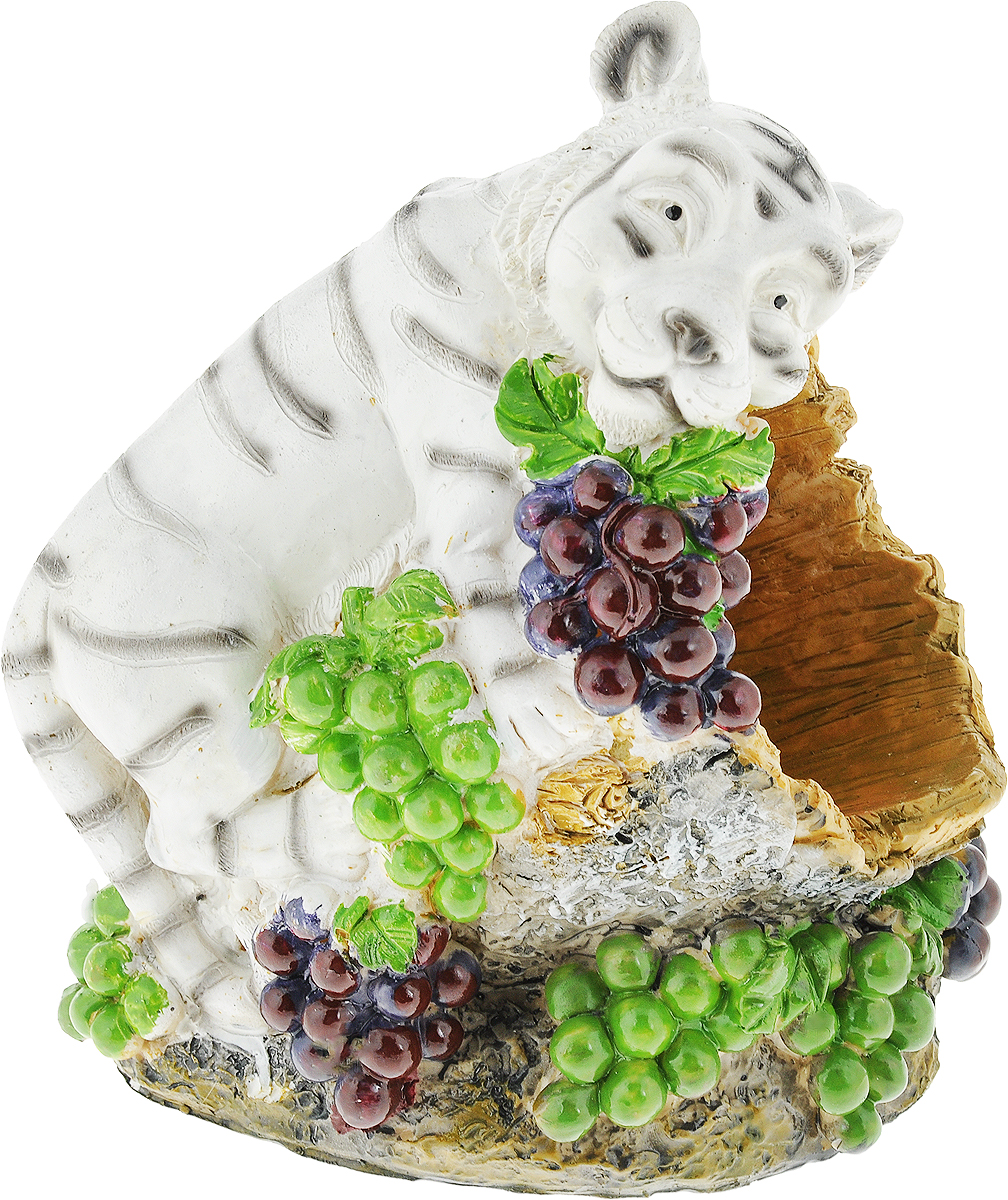Подставка для вина Drivemotion Белый тигр, 20 х 18 х 13 смwh_25Подставка для вина Drivemotion Белый тигр, изготовленная из высококачественного полистоуна, порадует вас и ваших гостей своим великолепным дизайном и яркими красками. Подставка выполнена в виде милого тигра среди гроздьев винограда.Поместите винную бутылку в эту красивую подставку, и гости не только надолго запомнят ваше мероприятие, но и будут рассказывать о нем другим. Эта замечательная подставка может стать великолепным штрихом к вашему празднику. Диаметр отверстия для бутылки: 8 см.