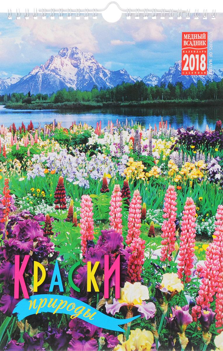 Календарь 2018 (на спирали). Краски природы bs 523 подсвечник домик деда мороза pavone