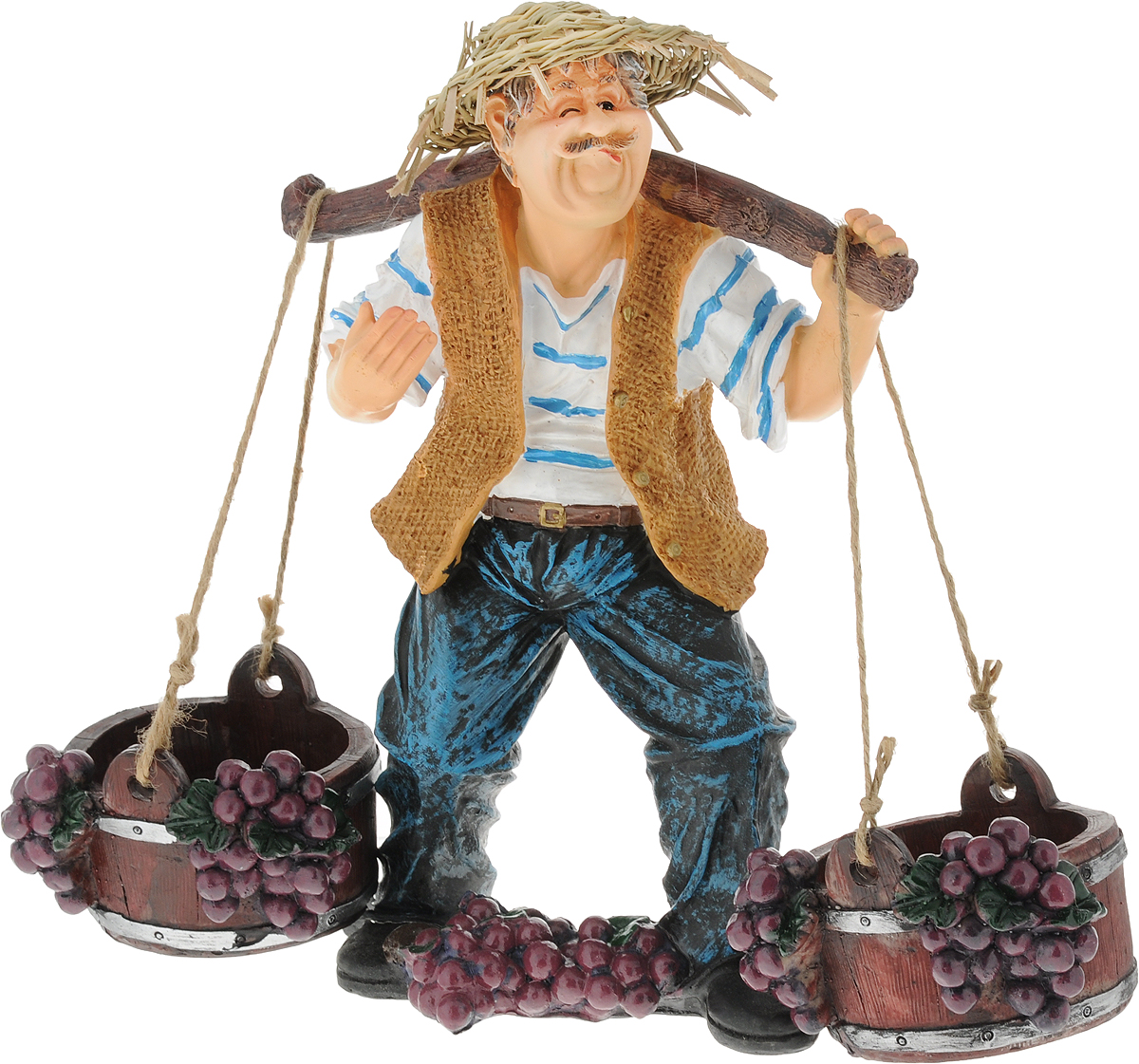 Подставка для вина Drivemotion Фермер с коромыслом, синие штаны, 25 х 35 х 18 смwine_farmer_3Подставка для вина Drivemotion Фермер с коромыслом, синие штаны, выполненная из высококачественного полистоуна, порадует вас и ваших гостей своим великолепным дизайном и яркими красками. Поместите винную бутылку на эту красивую подставку, и гости не только надолго запомнят ваше мероприятие, но и будут рассказывать о нем другим. Эта замечательная подставка может стать великолепным штрихом к вашему празднику.