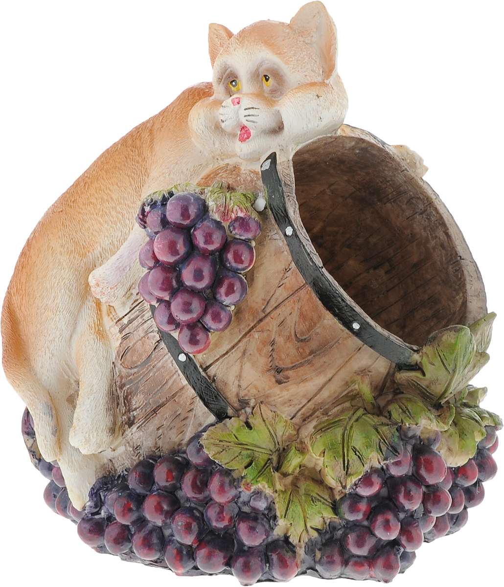 """Подставка для вина Drivemotion """"Нежный кот"""", выполненная из высококачественного полистоуна, порадует вас и ваших гостей своим великолепным дизайном и яркими красками. Поместите винную бутылку в эту красивую подставку, и гости не только надолго запомнят ваше мероприятие, но и будут рассказывать о нем другим. Эта замечательная подставка может стать великолепным штрихом к вашему празднику."""