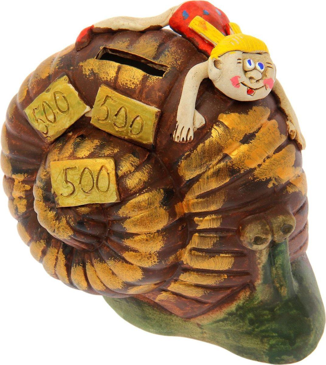 Копилка Керамика ручной работы Девочка на улитке, 16 х 13 х 16 см1143627Оригинальная копилка, выполненная в виде любимого животного, станет необычным украшением интерьера или полезным подарком для любимого человека. С её помощью вы с лёгкостью избавите карманы от мелочи и незаметно для себя приумножите сбережения.Обращаем ваше внимание, что копилка является одноразовой.