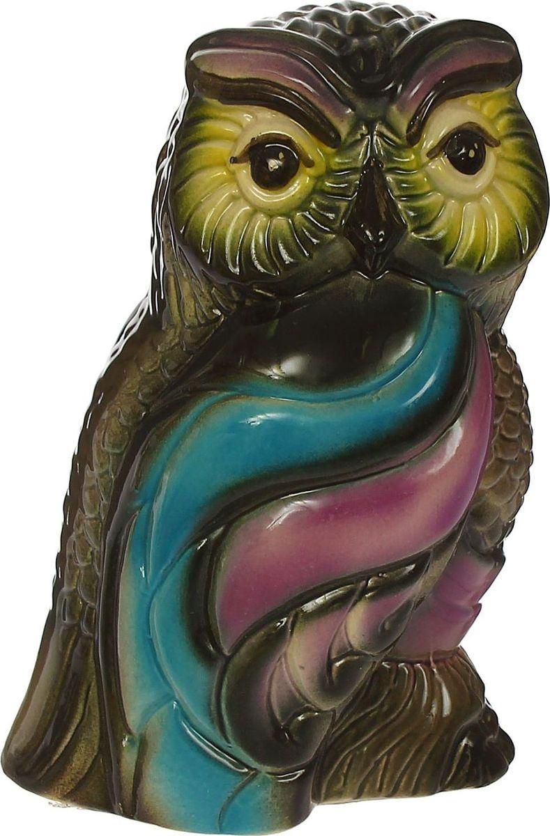 Копилка Керамика ручной работы Цветная сова, 10 х 12 х 17 см1422961Если вы стремитесь приумножить свои доходы, поместите копилку с пернатым товарищем в спальню. Складывайте в неё монетки любого достоинства, и будете приятно удивлены накопленной суммой. Птицы являются олицетворением полёта души, любви, счастья, а также вдохновляют на развитие, процветание и оптимизм.Обращаем ваше внимание, что копилка является одноразовой.