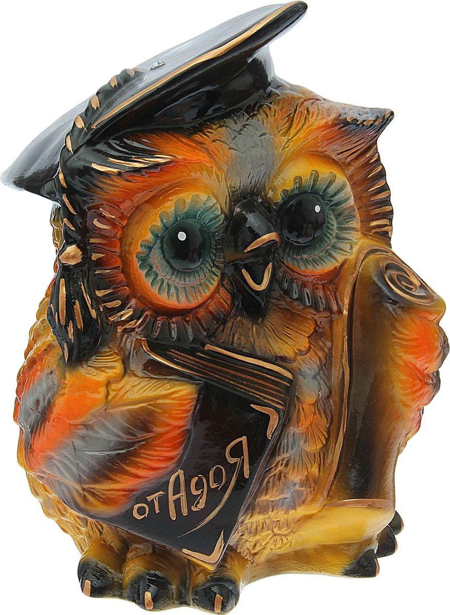 Копилка Керамика ручной работы Совушка, 20 х 22 х 18 см1528557Если вы стремитесь приумножить свои доходы, поместите копилку с пернатым товарищем в спальню. Складывайте в неё монетки любого достоинства, и будете приятно удивлены накопленной суммой. Птицы являются олицетворением полёта души, любви, счастья, а также вдохновляют на развитие, процветание и оптимизм.Обращаем ваше внимание, что копилка является одноразовой.