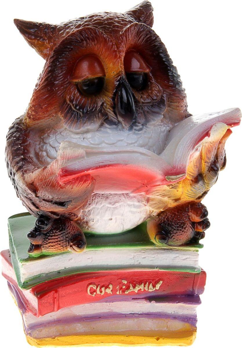 Копилка Сова с книгой, 13 х 15 х 25 см302950Многие знают, что сова издавна считается символом мудрости и спокойствия. Если у вас плохо идёт процесс накопления – приобретите такую сову. Она поможет отложить определённую сумму и грамотно ею распорядится. Поставьте копилку-сову в спокойное место, желательно рядом с книгами. Создайте ей максимальный комфорт, и она отплатить вам.Обращаем ваше внимание, что копилка является одноразовой.