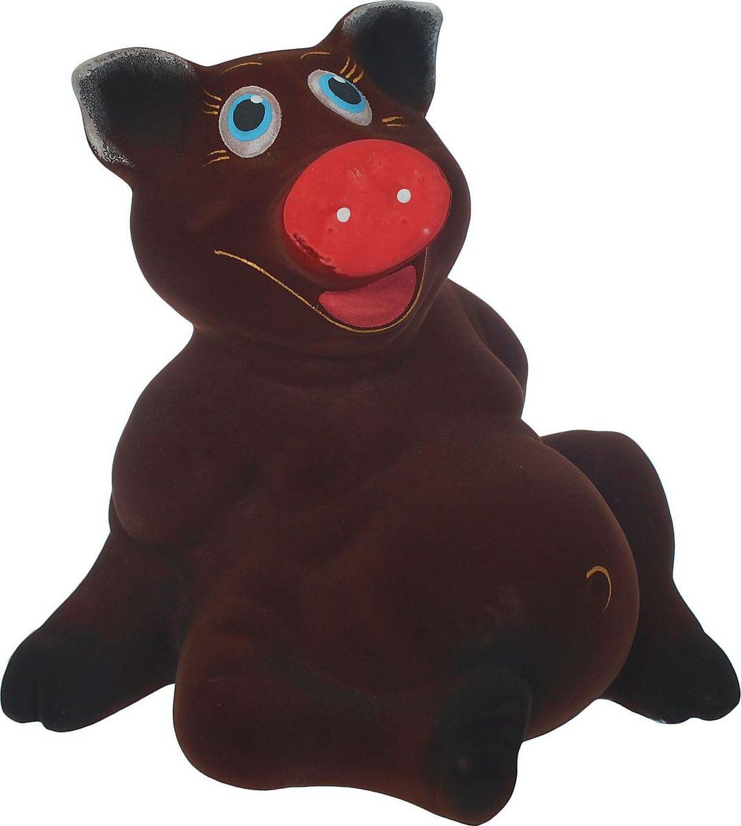 Копилка Керамика ручной работы Хрюша, 19 х 23 х 22 см884520В доме обязательно пригодится копилка, куда каждый в семье может складывать ненужную мелочь. Когда изделие наполнится, разбейте его и вместе приобретите что-нибудь. Копилка, выполненная в виде свиньи, является одной из наиболее популярных во всём мире, ведь она символизирует рост благосостояния. А её универсальная форма позволяет вместить немало денежных средств.Обращаем ваше внимание, что копилка является одноразовой.