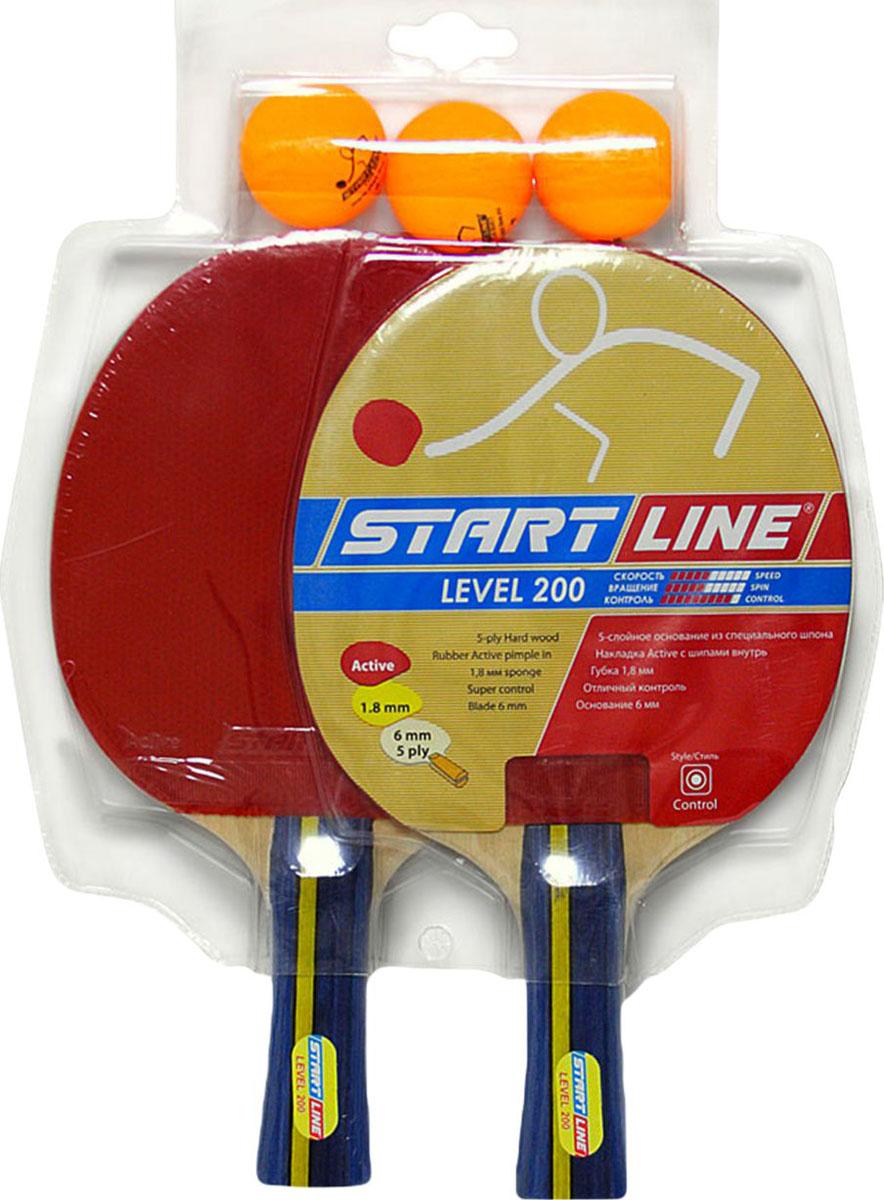 Набор для настольного тенниса StartLine, 5 предметовУТ-00004109Название: Набор н/т (2 ракетки Level200 + 3 мяча оранж.) (61300)Основание: Практичный набор для настольного тениса состоящий из 2-х ракеток и трех оранжевых мячей.Ракетка: 2 шт.(Level 200) Мяч: 3 шт. Club Select Упаковка: Блистер Вес брутто: 0.65 кг.