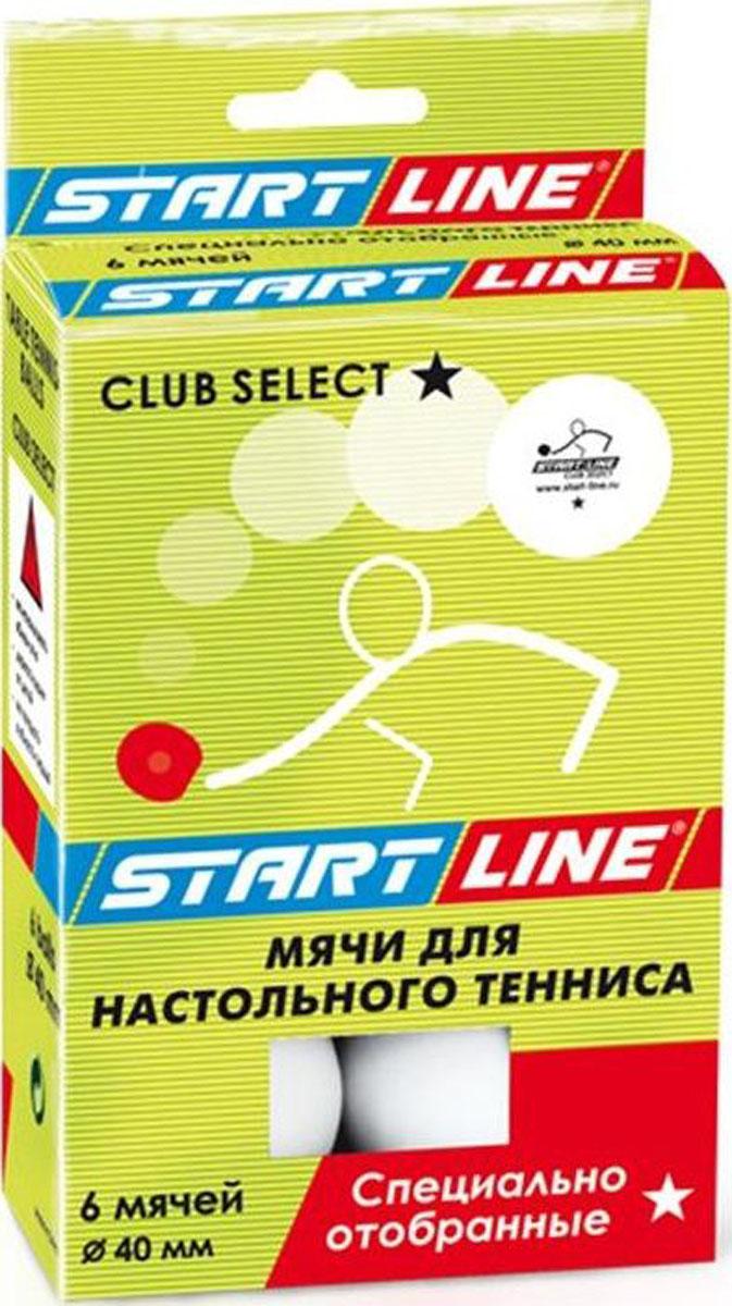 Мяч для настольного тенниса StartLine Club Select, 6 штУТ-00004113Набор мячей Start Line Club Select, выполненный из пластика, предназначен для игры в настольный теннис. Мячи для начинающих игроков и любителей. Надежные и качественные, подходят для игроков с небольшим опытом.