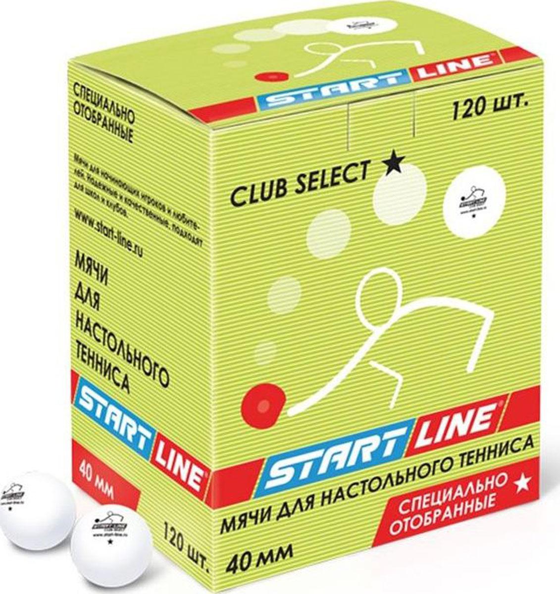 Мяч для настольного тенниса StartLine Club Select, 120 штУТ-00004117Набор мячей StartLine Club Select, выполненных из поливинилхлорида, предназначен для игры в настольный теннис. Мячи для начинающих игроков и любителей. Надежные и качественные, подходят для игроков с небольшим опытом.