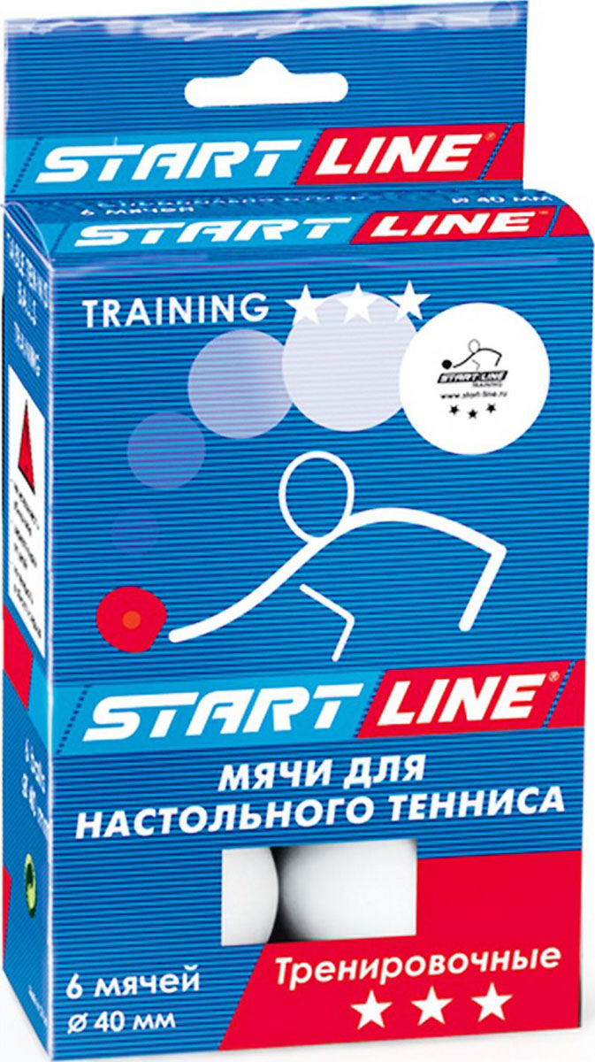 Мяч для настольного тенниса StartLine Training, 6 штУТ-00005876Набор мячей Start Line Training, выполненный из пластика, предназначен для игры в настольный теннис. Мячи для начинающих игроков и любителей. Надежные и качественные, подходят для игроков с небольшим опытом.