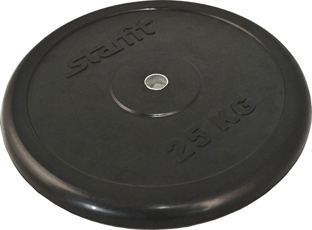 Диск обрезиненный Starfit BB-202, посадочный диаметр 26 мм, 25 кгУТ-00007176Диск BB-202 - это обрезиненный диск от STARFIT, который имеет металлическую втулку в посадочном отверстии, что позволяет надевать и снимать диски более оперативно и легко.Индивидуальный дизайн, пресс-форма логотипа бренда Starfit. Откалиброван по весу.Характеристики:Вес, кг: 25Диаметр посадочного отверстия, мм: 26Цвет: черныйВнутренний материал: металлПокрытие: резинаКоличество в упаковке, шт: 1Производство: КНР
