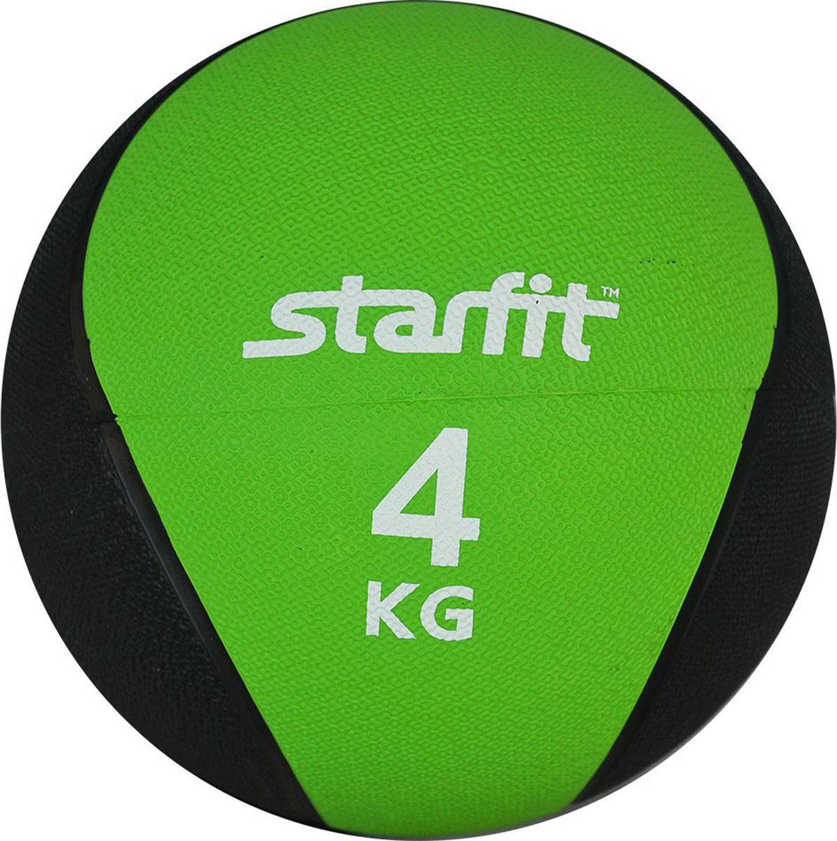 Медицинбол Starfit Pro GB-702, цвет: зеленый, 4 кгУТ-00007301Медицинбол Starfit Pro GB-702 - это важный аксессуар для функциональной тренировки тела. Серия медболов PRO Starfit отличается повышенной плотностью и жесткостью поверхности, а также ярким цветным дизайном.Медбол используют в групповых программах, функциональном тренинге, бодибилдинге и фитнесе. Также его используют профессиональные спортсмены в единоборствах. Помогает в тренировке мышц кора (пресса), мышц рук, грудной клетки, спины, плеч, ног и ягодиц. Фактически с помощью него можно провести полноценную тренировку для всего организма.Характеристики:Вес: 4 кг.Диаметр: 22,8 см.