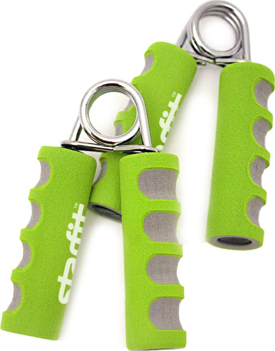 Эспандер кистевой Starfit ES-304, цвет: зеленый, серый, 2 штУТ-00007335Эспандер кистевой ES-304 - пружинный аксессуар для фитнеса. Отличный способ тренировки лучезапястного сустава. Мышцы предплечья, пальцев рук, а также связки и сухожилия будут всегда в тонусе. Характеристики:Тип i144000666611234: пружинныйКонструкция: цельнаяМатериал: металл, пластик, неопренЦвет: зеленый, серыйКоличество в упаковке, шт: 2Производитель: КНР144000666611234Пружинный - это удобный распространенный вид эспандеров. Пружинные эспандеры представляют из себя две ручки, соединенных между собой специальным пружиной. Жесткость пружинных эспандеров небольшая, до 20 кг.Кольцо - это удобный и компактный эспандер. Он может быть разной жесткости и иметь гладкое или массажное покрытие. Данный эспандер рекомендуется для укрепления кистей рук, улучшения кровоснабжения, профилактики заболеваний суставов и сосудов.Мяч (яйцо) - это эспандер в виде резинового мячика или яйца, он аналогичен по принципу действия эспандера-кольца, его жесткость невелика. Такой эспандер как раз подойдет спортсмену начального уровня.Powerball - это малогабаритный спортивный тренажёр, который создает нагрузку на мышцы и суставы кисти руки. Чтобы достичь высокого уровня раскручивания работают мышцы предплечья, плеча и плечевого пояса. Данный тренажер имеет молодежный дизайн и его зачастую относят к предметам развлечения.