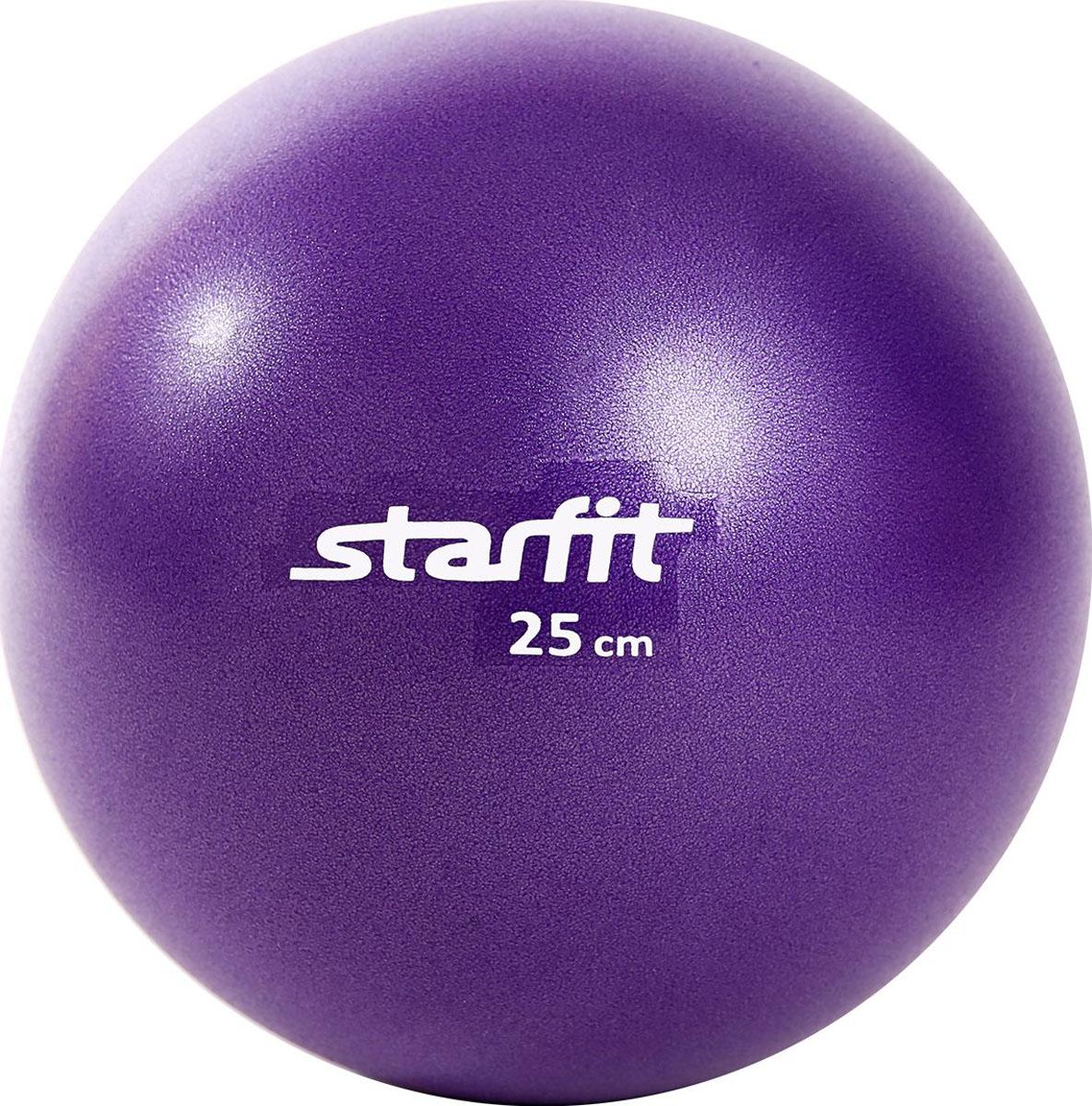 Мяч гимнастический Starfit, цвет: фиолетовый, диаметр 25 смУТ-00009008Гимнастический мяч Star Fit является универсальным тренажером для всех групп мышц, помогает развить гибкость, исправить осанку, снимает чувство усталости в спине. Предназначен для гимнастических и медицинских целей в лечебных упражнениях. Прекрасно подходит для использования в домашних условиях. Данный мяч можно использовать для реабилитации после травм и операций, восстановления после перенесенного инсульта, стимуляции и релаксации мышечных тканей, улучшения кровообращения, лечении и профилактики сколиоза, при заболеваниях или повреждениях опорно-двигательного аппарата.