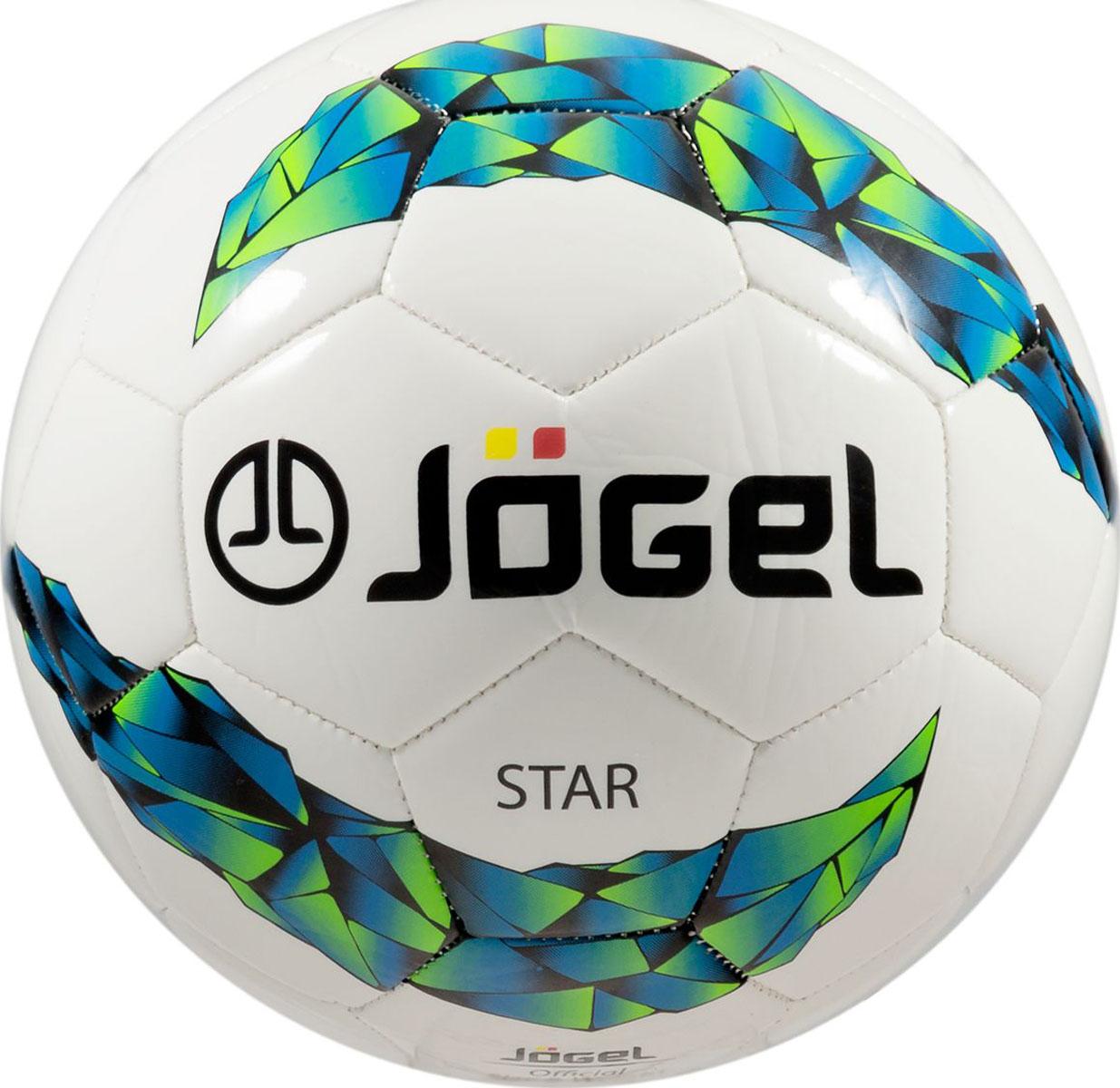 Мяч футзальный Jogel Star, цвет: белый. Размер 4. JF-200УТ-00009332Название: Мяч футзальный Jgel JF-200 Star №4Категория: Любительский мячКоллекция: 2016/2017Описание: Jogel JF-200 Star прекрасный любительский мяч, являющийся хитом продаж в своей ценовой категории, благодаря недорогой стоимости и удачно подобранным материалам. Поверхность мяча выполнена из синтетической кожи (термополиуретан) толщиной 3.0 мм, благодаря чему мяч обладает мягкой и тактильно приятной поверхностью. Мяч оснащен бутиловой камерой со специальным наполнителем, обеспечивающим рекомендованный FIFA низкий отскок. Данный мяч рекомендован для тренировок и тренировочных игр клубных и любительских команд.Уникальной особенностью бренда Jogel является традиционная конструкция мячей из 30 панелей. Привлекательный дизайн Коллекции 2016/2017 ярко выделяет мячи Jogel на витрине. Данный мяч подходит для поставок на гос. тендеры. Официальный размер, вес и отскок FIFA.Рекомендованные покрытия: Паркет, уличные площадки с твердыми ровными поверхностямиМатериал поверхности: Синтетическая кожа (термополиуретан) толщиной 3.0 ммМатериал камеры: Бутил с наполнителемТип соединения панелей: Машинная сшивка Количество подкладочных слоев: 2Количество панелей: 30Размер: Официальный размер для футзалаВес: 400-440 грДлина окружности: 62-64 смРекомендованное давление: 0.5-0.6 барОсновной цвет: белый Дополнительный цвет: синий, зеленый, черныйБренд: JogelСтрана бренда: ГерманияПроизводство: КНР