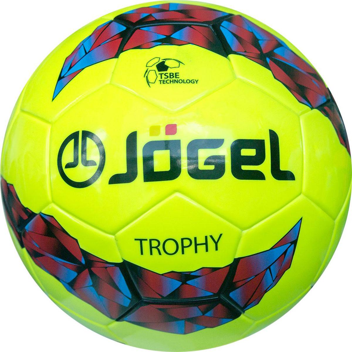 Мяч футбольный Jogel Trophy, цвет: белый. Размер 5. JS-900УТ-00009337Название: Мяч футбольный Jgel JS-900 Trophy №5Категория: Матчевый мячКоллекция: 2016/2017Описание: Jogel JS-900 Trophy футбольный мяч матчевого уровня, сделанный по бесшовной технологии термосклеивания (термосшивка). Благодаря этому, мяч обладает идеально круглой формой, герметичен и не пропускает влагу во внутрь, а давление в мяче распределяется равномерно. Поверхность мяча выполнена из глянцевой синтетической кожи (термополиуретан) толщиной 3.0 мм неоново-желтого цвета, обеспечивающего прекрасную видимость мяча в любую погоду. Мяч оснащен бутиловой камерой, армированной синтетической нитью, благодаря чему обеспечивается отличный баланс и долгое сохранение воздуха в камере. Данный мяч поставляется с завода-изготовителя в приспущенном состоянии для безопасной транспортировки и хранения. Рекомендован для тренировок и соревнований команд высокого уровня.Уникальной особенностью, характерной для бренда Jogel, является традиционная конструкция мячей из 30 панелей. Привлекательный дизайн Коллекции 2016/2017 ярко выделяет мячи Jogel на витрине. Данный мяч подходит для поставок на гос. тендеры. Официальный размер и вес FIFA.Рекомендованные покрытия: натуральный газон, синтетическая трава Материал поверхности: Синтетическая кожа (термополиуретан) толщиной 3.0 ммМатериал камеры: БутилТип соединения панелей: Термосклеивание (термосшивка)Количество панелей: 30Размер: 5Вес: 410-450 грДлина окружности: 68-70 смРекомендованное давление: 0.6-0.8 барОсновной цвет: Неоново-желтый Дополнительный цвет: красный, голубой, черныйКоличество в коробке: 18 шт.Бренд: JogelСтрана бренда: ГерманияПроизводство: КНР