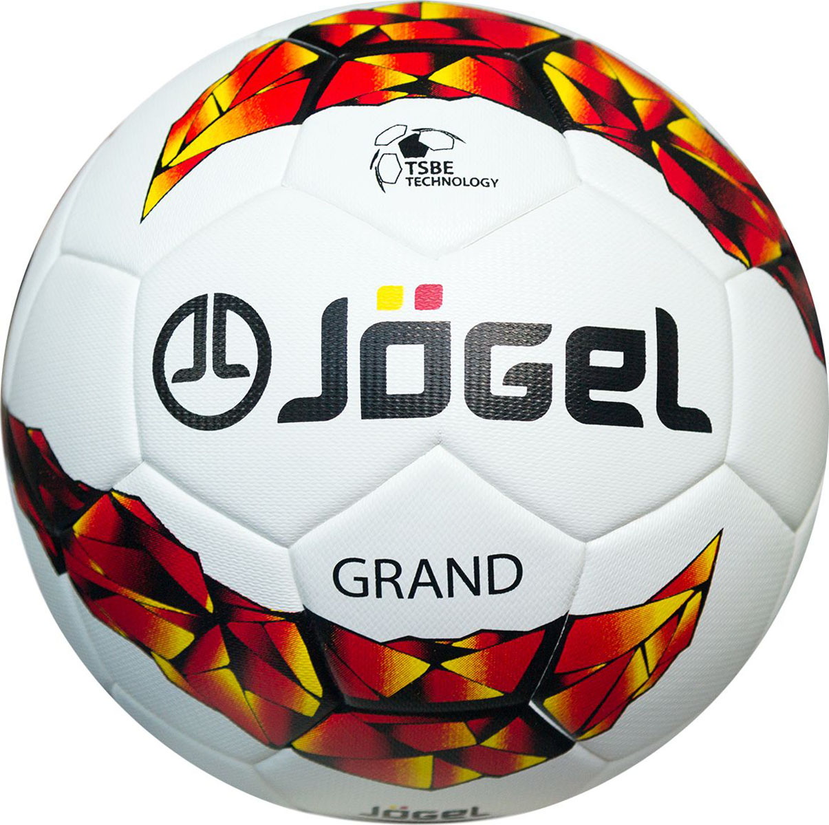 Мяч футбольный Jogel Grand, цвет: белый. Размер 5. JS-1000УТ-00009338Jogel JS-1000 Grand профессиональный футбольный мяч, сделанный по бесшовной технологии термосклеивания (термосшивка). Благодаря этому мяч обладает идеально круглой формой, герметичен и не пропускает влагу во внутрь, а давление в мяче распределяется равномерно.Поверхность мяча выполнена из высококачественной синтетической кожи (полиуретан) толщиной 3.0 мм и обладает текстурной поверхностью, улучшающий контроль мяча при любых погодных условиях. Мяч оснащен бутиловой камерой, армированной синтетической нитью, благодаря чему обеспечивается отличный баланс и долгое сохранение воздуха в камере. Данный мяч поставляется с завода-изготовителя в приспущенном состоянии для безопасной транспортировки и хранения. Рекомендован для тренировок и соревнований команд высокого уровня.Уникальной особенностью, характерной для бренда Jogel, является традиционная конструкция мячей из 30 панелей.