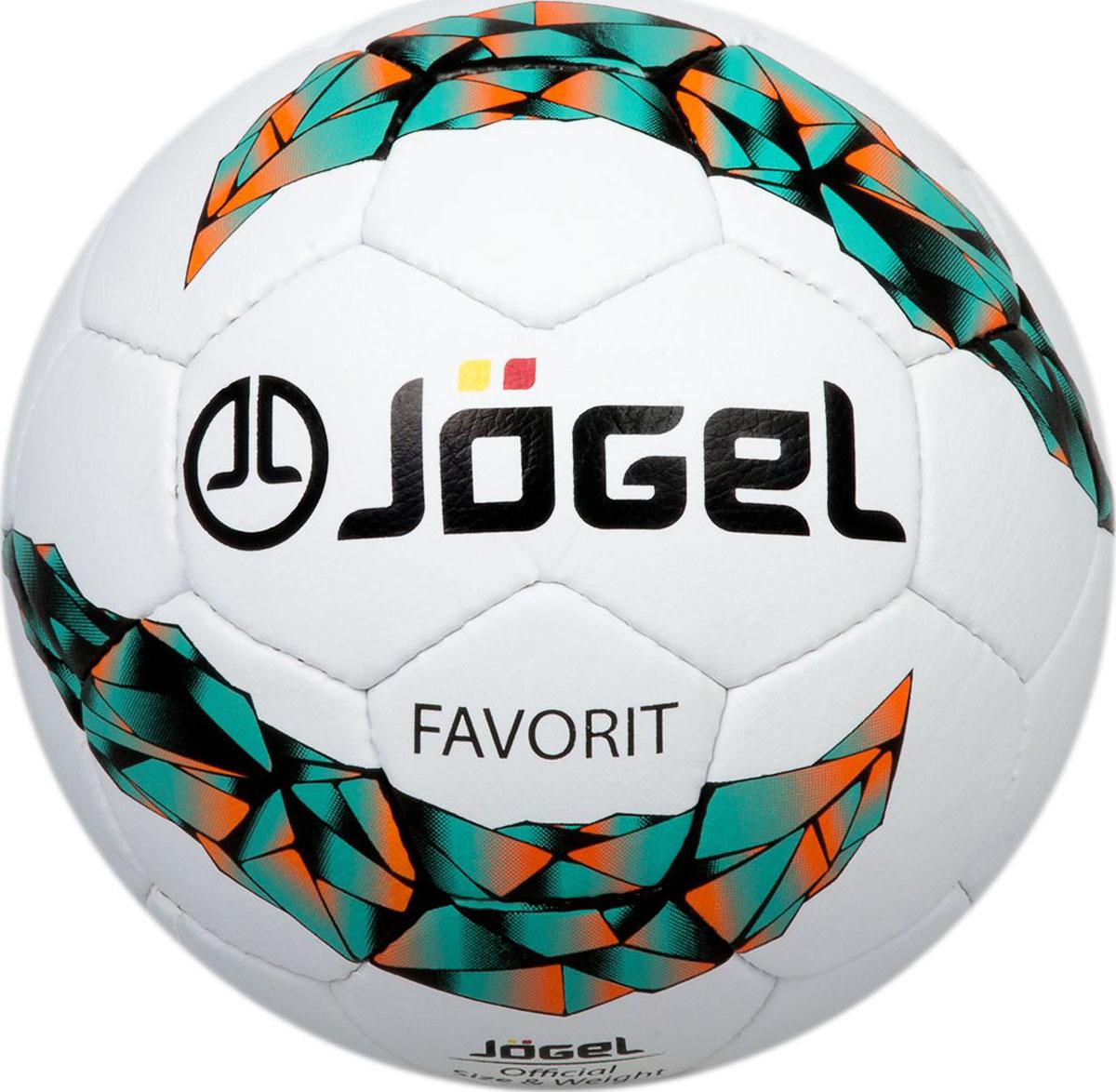 Мяч футбольный Jogel Favorit, цвет: желтый. Размер 5. JS-750УТ-00009618Jogel JS-750 Favorit мяч ручной сшивки тренировочного уровня, отличительной особенностью которого является материал поверхности мяча, имитирующий натуральную кожу. Благодаря этому материалу мяч имеет лучшую сцепляемость с полем при влажной и мокрой погоде, а также имеет благородный, классический вид. Данный мяч рекомендован для тренировок и тренировочных игр клубных и любительских команд. Поверхность мяча выполнена из матовой синтетической кожи (полиуретан) толщиной 1,2 мм. Мяч имеет 4 подкладочных слоя на нетканой основе (смесь хлопка с полиэстером) и оснащен латексной камерой с бутиловым ниппелем, обеспечивающим долгое сохранение воздуха в камере. Уникальной особенностью, характерной для бренда Jogel, является традиционная конструкция мячей из 30 панелей.