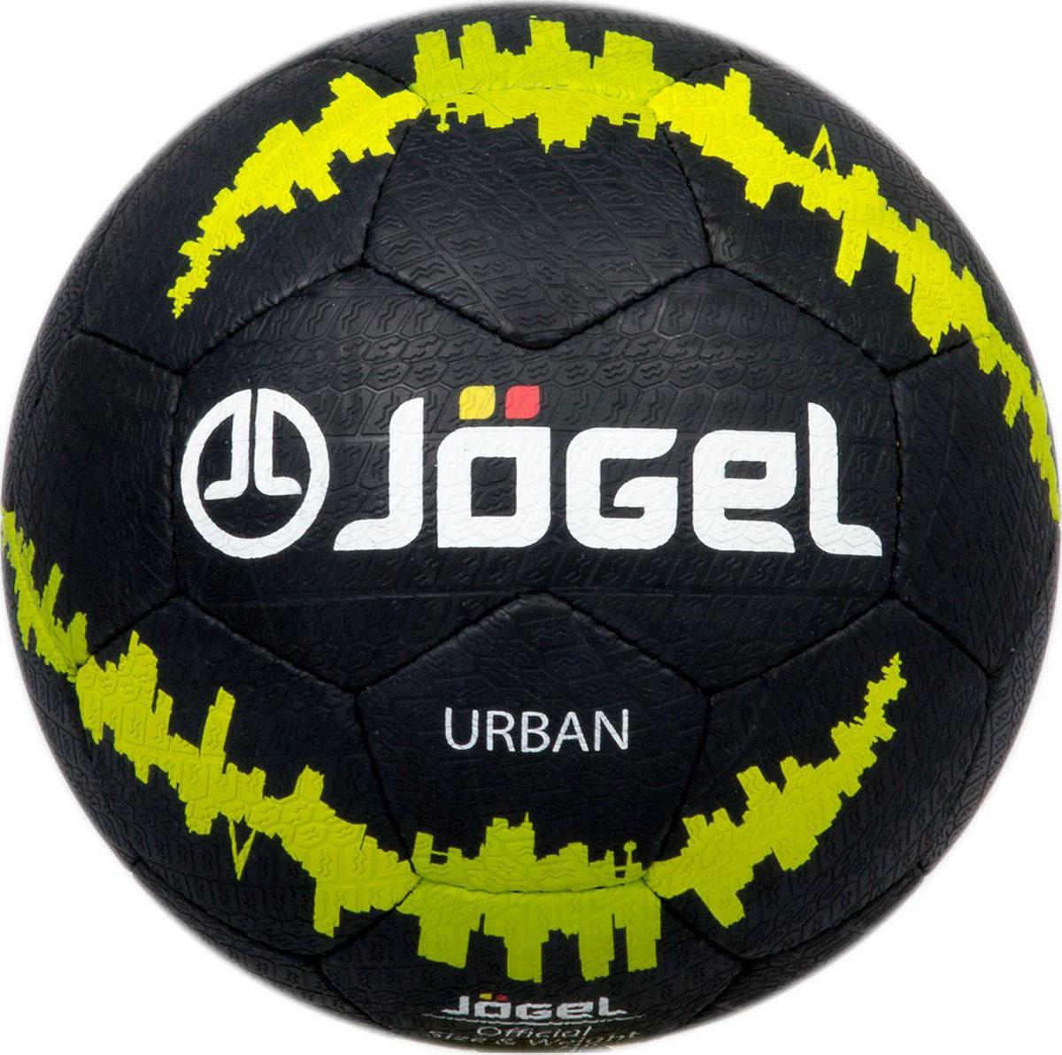 Мяч футбольный Jogel Urban, цвет: черный. Размер 5. JS-1100УТ-00009619Jogel JS-1100 Urban - это уникальный в своем роде мяч, материал поверхности которого позволяет играть им практически на любых покрытиях! Данный мяч прекрасно подойдет для уличных тренировок, тренировок на мокром покрытии и даже игр на снегу. Панели мяча соединены прочной ручной сшивной и не боятся влаги. Поверхность мяча выполнена по технологии Reflex Play из специальной резины толщиной 1,5 мм, имитирующей протектор автомобильного колеса. Мяч имеет 4 подкладочных слоя на основе полиэстера и оснащен латексной камерой с бутиловым ниппелем, обеспечивающим долгое сохранение воздуха в камере. Уникальной особенностью, характерной для бренда Jogel, является традиционная конструкция мячей из 30 панелей.ВНИМАНИЕ! В целях сохранения технических свойств резины и её внешнего вида, мяч покрывают специальной смазкой, не имеющей запаха и побочных эффектов. Данная смазка стирается при первой же игре.