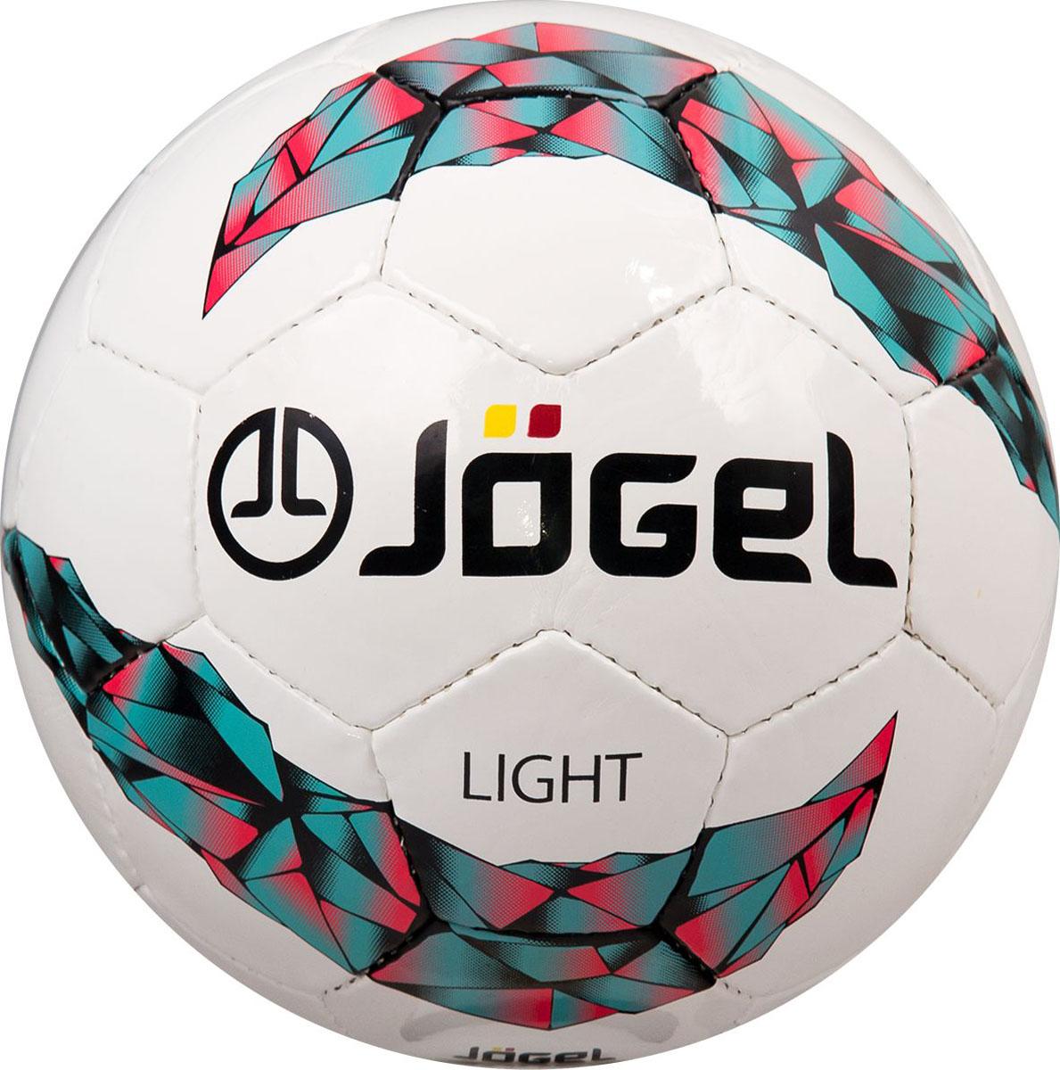 Мяч футбольный Jogel Light, цвет: белый. Размер 4. JS-550УТ-00009687Jogel JS-550 Light - это облегченный мяч ручной сшивки, предназначенный для подростков до 10-12 лет. Вес данного мяча составляет 310-330 г, что меньше веса стандартного мяча размера №4 (350-390 г). По своим техническим характеристикам является практически полным аналогом мяча Derby. Мяч JS-550 Light рекомендован детскими тренерами и соответствует всем требованиям тренировочного процесса для игроков подросткового возраста. Размер №4 предназначается для тренировок детей в возрасте от 10 до 12 лет. Поверхность мяча выполнена из глянцевой синтетической кожи (полиуретан) толщиной 1,0 мм. Мяч имеет 3 подкладочных слоя на нетканой основе (смесь хлопка с полиэстером) и оснащен латексной камерой с бутиловым ниппелем, обеспечивающим долгое сохранение воздуха в камере.Уникальной особенностью, характерной для бренда Jogel, является традиционная конструкция мячей из 30 панелей.