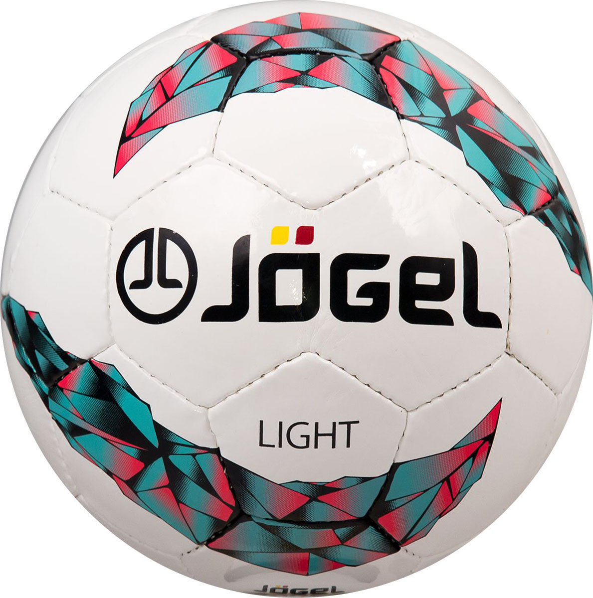 Мяч футбольный Jogel Light, цвет: белый. Размер 5. JS-550УТ-00009688Jogel JS-550 Light №5 - это облегченный мяч ручной сшивки, предназначенный для подростков 10-14 лет. Вес данного мяча составляет 350-370 г, что меньше веса стандартного мяча размера №5 (410-450 г). По своим техническим характеристикам является практически полным аналогом мяча Derby. Мяч JS-550 Light рекомендован детскими тренерами и соответствует всем требованиям тренировочного процесса для игроков подросткового возраста. Поверхность мяча выполнена из глянцевой синтетической кожи (полиуретан) толщиной 1,0 мм. Мяч имеет 3 подкладочных слоя на нетканой основе (смесь хлопка с полиэстером) и оснащен латексной камерой с бутиловым ниппелем, обеспечивающим долгое сохранение воздуха в камере.Уникальной особенностью, характерной для бренда Jogel, является традиционная конструкция мячей из 30 панелей.