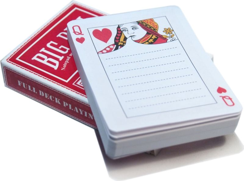 Карамба Блокнот Колода карт цвет красный 90 листов в линейку003192Оригинальный блокнот Карамба Колода карт - незаменимый атрибут современного человека, необходимый для рабочих и повседневных записей в офисе и дома.Блокнот содержит 90 листов в линейку.Блокнот станет достойным аксессуаром среди ваших канцелярских принадлежностей. Такой блокнот пригодится как для деловых людей, так и для любителей записывать свои мысли, писать мемуары или делать наброски новых стихотворений.