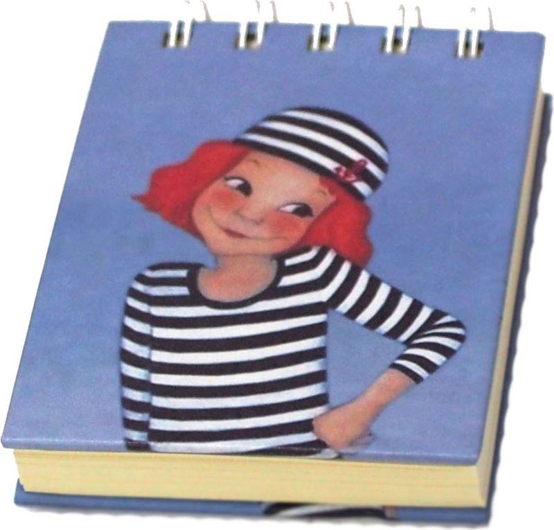Карамба Блокнот Девочка в полосатом костюме 80 листов в линейку004082
