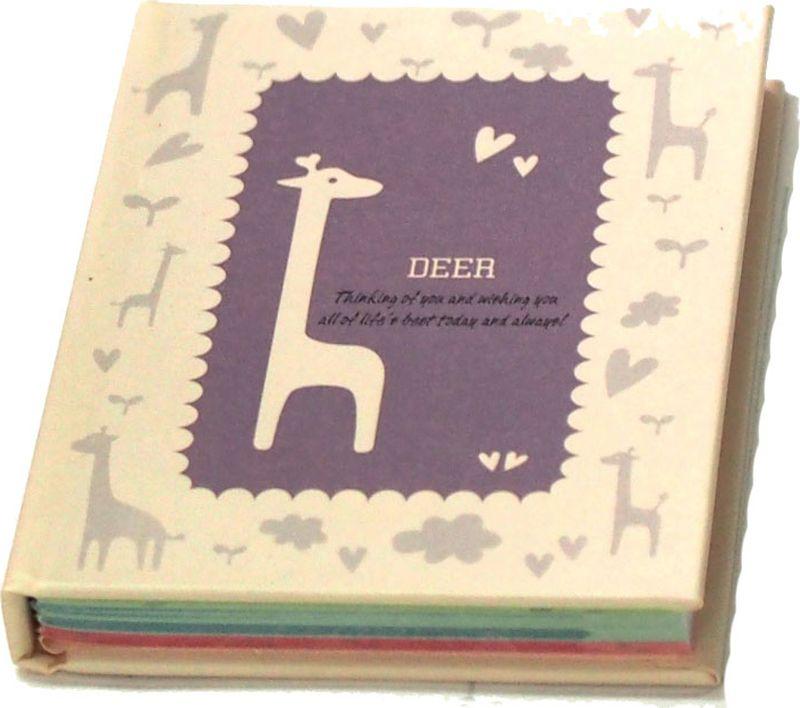 Карамба Блокнот Жираф цвет фиолетовый 60 листов в линейку004153