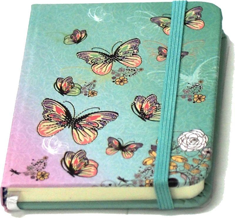 Карамба Блокнот Бабочки цвет голубой 80 листов004197