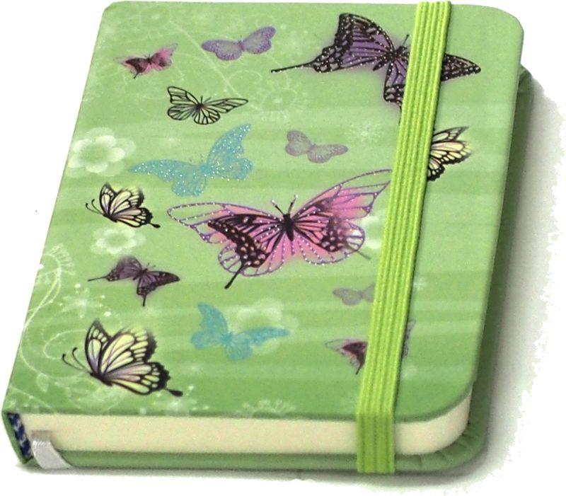 Карамба Блокнот Бабочки цвет зеленый 80 листов004198