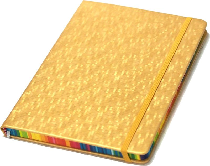 Карамба Блокнот Колор цвет золотистый 80 листов в линейку004206Стильный блокнот Карамба Колор - незаменимый атрибут современного человека, необходимый для рабочих и повседневных записей в офисе и дома.Блокнот содержит 80 листов в линейку.Блокнот станет достойным аксессуаром среди ваших канцелярских принадлежностей. Такой блокнот пригодится как для деловых людей, так и для любителей записывать свои мысли, писать мемуары или делать наброски новых стихотворений.
