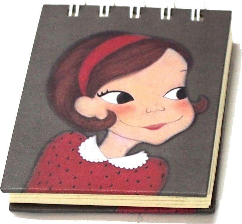 Карамба Блокнот Девочка с красной ленточкой 80 листов в линейку004764