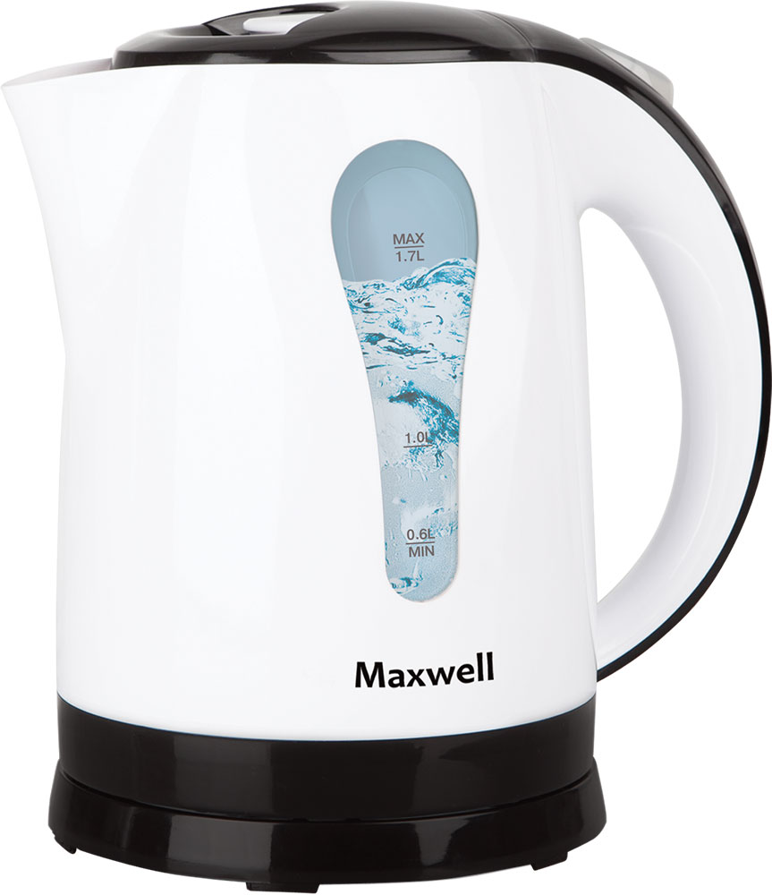 Maxwell MW-1079(W) чайник электрическийMW-1079(W)Электрический чайник Maxwell MW-1079(W) позволит легко и быстро вскипятить воду для любимых горячих напитков. Компактная модель совмещает в себе все важные функции, которые позволят комфортно пользоваться чайником. Устройство автоматически отключается, когда вода в нем закипает и не включается, если воды нет. При помощи специальной шкалы на корпусе устройства вы всегда будете знать, хватит ли воды для чая. Удобство использования чайника дополняется стильным дизайном. Именно поэтому данная модель прекрасно смотрится в любом кухонном интерьере.