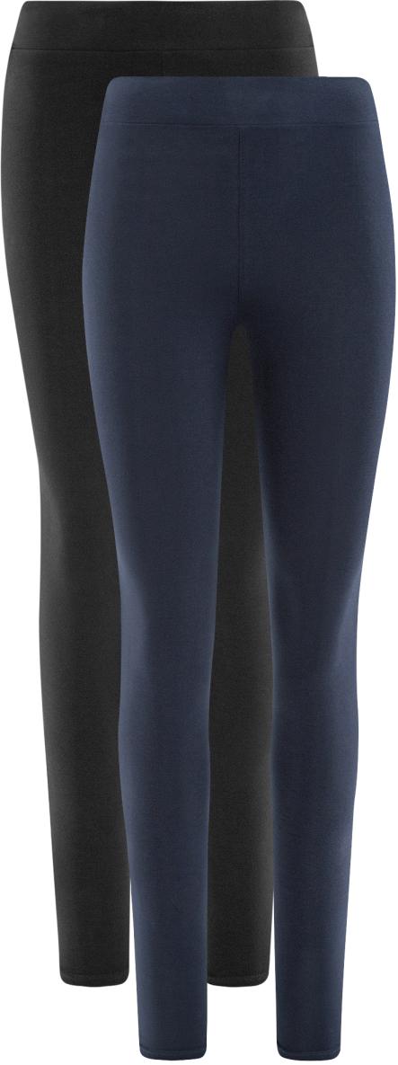 Леггинсы женские oodji Ultra, цвет: черный, синий, 2 шт. 18700046T2/47618/19K4N. Размер M (46)18700046T2/47618/19K4NЖенские леггинсы от oodji, выполненные из высококачественного материала, великолепно подойдут для отдыха и занятий спортом. Модель дополнена широкой эластичной резинкой на поясе. В комплект входят две пары леггинсов.