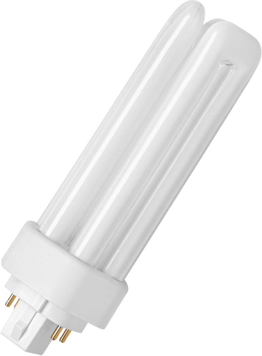 Лампа люминесцентная Osram Dulux T/E 42W/840 Plus GX24q-4 40503004256274050300425627Люминесцентная лампа, имеющая изогнутую форму колбы, что позволяет разместить лампу в светильнике меньших размеров. Такие лампы нередко имеют встроенный электронный дроссель. Компактные люминесцентные лампы разработаны для применения в конкретных специфических типах светильников либо для замены ламп накаливания в обычных.