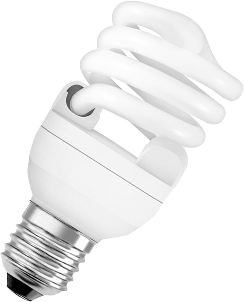 Лампа люминесцентная Osram Duluxstar Mini Twist 20Вт/827 E27 220-240В 40528999162104052899916210Люминесцентная лампа, имеющая изогнутую форму колбы, что позволяет разместить лампу в светильнике меньших размеров. Такие лампы нередко имеют встроенный электронный дроссель. Компактные люминесцентные лампы разработаны для применения в конкретных специфических типах светильников либо для замены ламп накаливания в обычных.