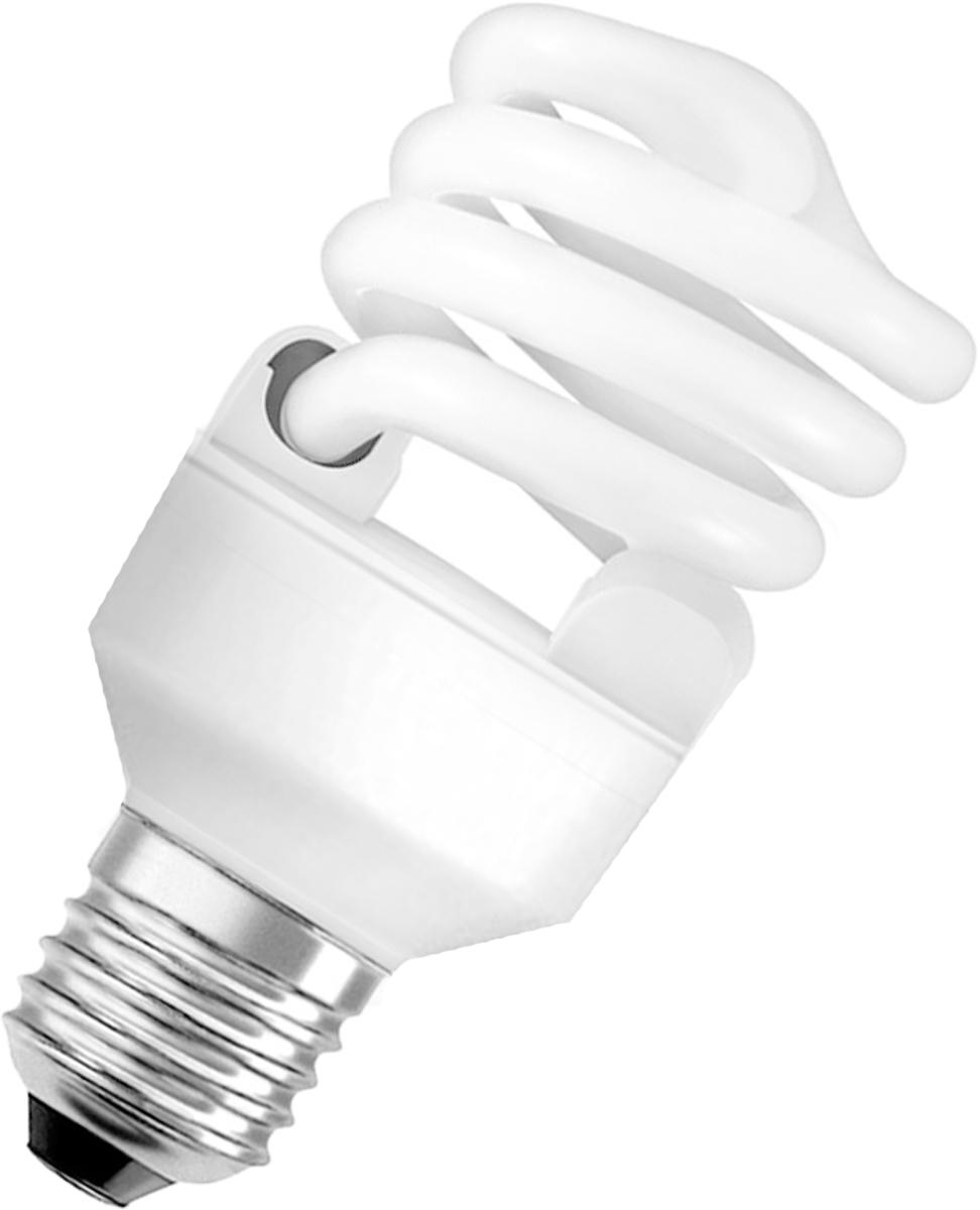 Лампа люминесцентная Osram Duluxstar Mini Twist 20Вт/840 E27 220-240В 40528999162274052899916227Люминесцентная лампа, имеющая изогнутую форму колбы, что позволяет разместить лампу в светильнике меньших размеров. Такие лампы нередко имеют встроенный электронный дроссель. Компактные люминесцентные лампы разработаны для применения в конкретных специфических типах светильников либо для замены ламп накаливания в обычных.