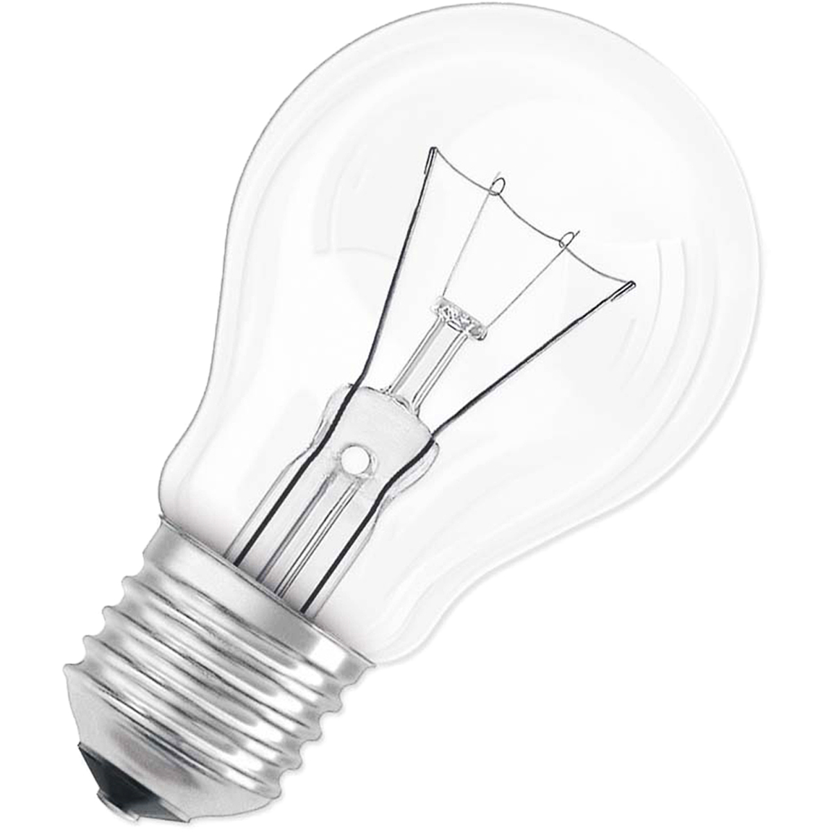 Лампа накаливания Osram Classic A CL 40Вт E27 220-240В 40083217885284008321788528Конструкция лампы состоит из стеклянной колбы, заполненной инертным газом. Основу устройства составляет тело накала или вольфрамовая спираль, которая под воздействием электрического тока начинает излучать свечение.Лампы накаливания используются для всеобщего, местного и наружного освещения в быту и промышленности в сетях переменного тока напряжением 220 В частотой 50 Гц