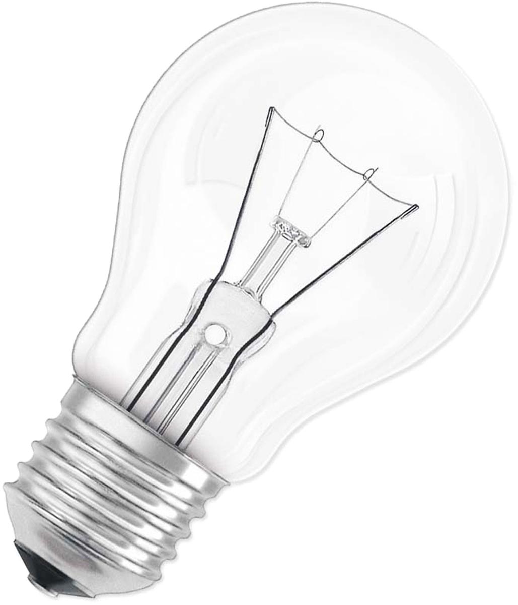 Лампа накаливания Osram Classic A CL 60Вт E27 220-240В. 40083216658504008321665850Конструкция лампы состоит из стеклянной колбы, заполненной инертным газом. Основу устройства составляет тело накала или вольфрамовая спираль, которая под воздействием электрического тока начинает излучать свечение.Лампы накаливания используются для всеобщего, местного и наружного освещения в быту и промышленности в сетях переменного тока напряжением 220 В частотой 50 Гц