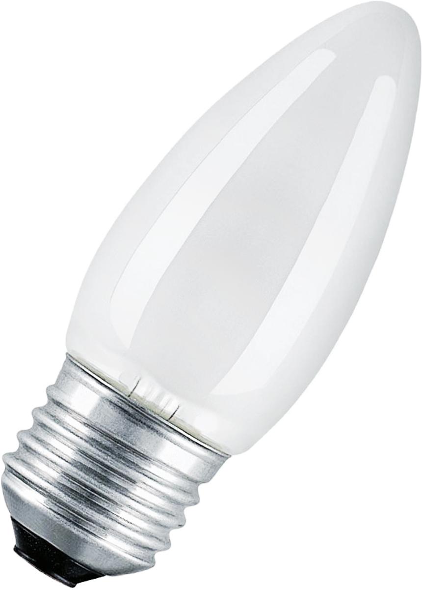 Лампа накаливания Osram Classic B FR 60W E27 40083214113964008321411396Конструкция лампы состоит из стеклянной колбы, заполненной инертным газом. Основу устройства составляет тело накала или вольфрамовая спираль, которая под воздействием электрического тока начинает излучать свечение.Лампы накаливания используются для всеобщего, местного и наружного освещения в быту и промышленности в сетях переменного тока напряжением 220 В частотой 50 Гц
