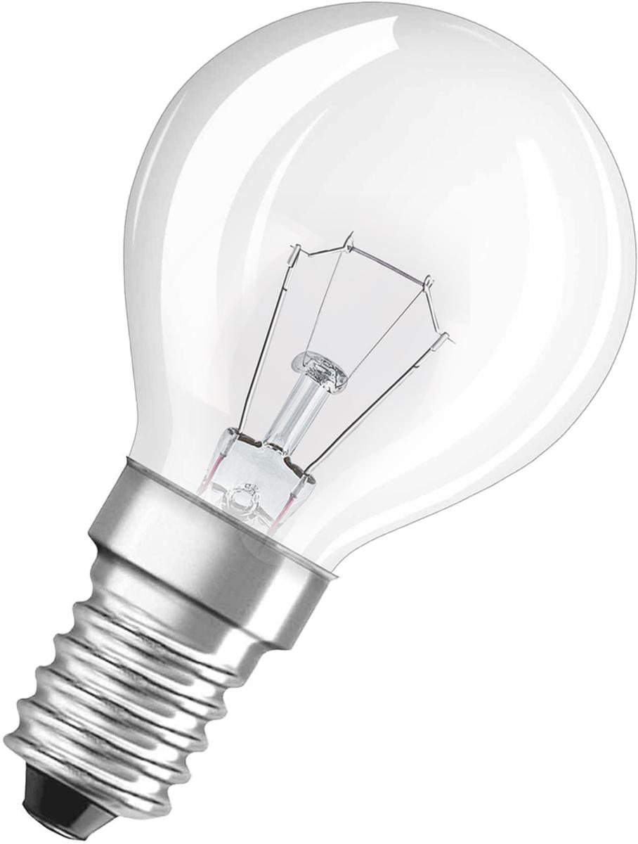 Лампа накаливания Osram Classic P CL 25W E14 40083217886724008321788672Конструкция лампы состоит из стеклянной колбы, заполненной инертным газом. Основу устройства составляет тело накала или вольфрамовая спираль, которая под воздействием электрического тока начинает излучать свечение.Лампы накаливания используются для всеобщего, местного и наружного освещения в быту и промышленности в сетях переменного тока напряжением 220 В частотой 50 Гц