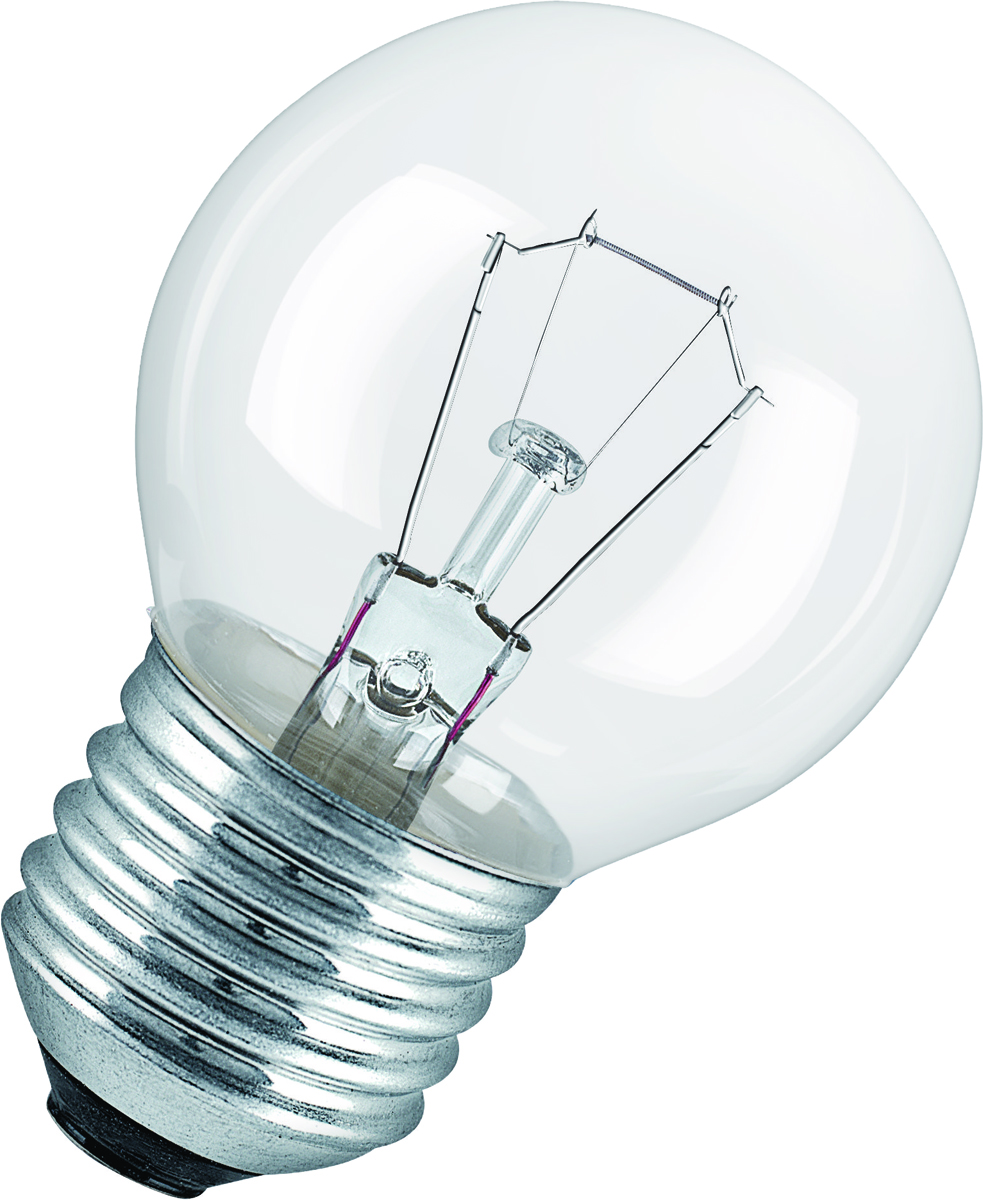 Лампа накаливания Osram Classic P CL 40W E27 40083217887644008321788764Конструкция лампы состоит из стеклянной колбы, заполненной инертным газом. Основу устройства составляет тело накала или вольфрамовая спираль, которая под воздействием электрического тока начинает излучать свечение.Лампы накаливания используются для всеобщего, местного и наружного освещения в быту и промышленности в сетях переменного тока напряжением 220 В частотой 50 Гц