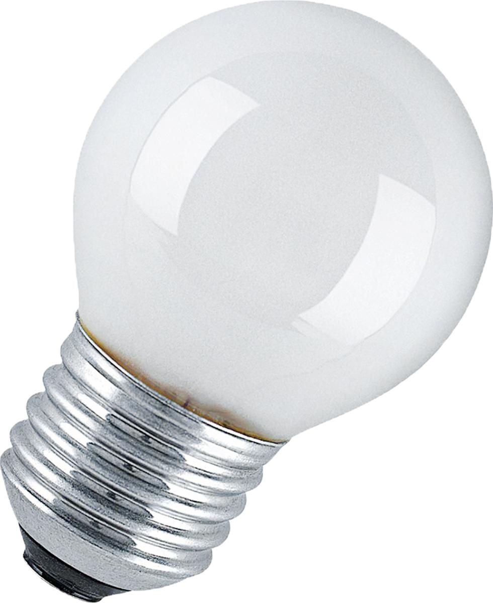 Лампа накаливания Osram Classic P FR 40W E27 40083214117164008321411716Конструкция лампы состоит из стеклянной колбы, заполненной инертным газом. Основу устройства составляет тело накала или вольфрамовая спираль, которая под воздействием электрического тока начинает излучать свечение.Лампы накаливания используются для всеобщего, местного и наружного освещения в быту и промышленности в сетях переменного тока напряжением 220 В частотой 50 Гц