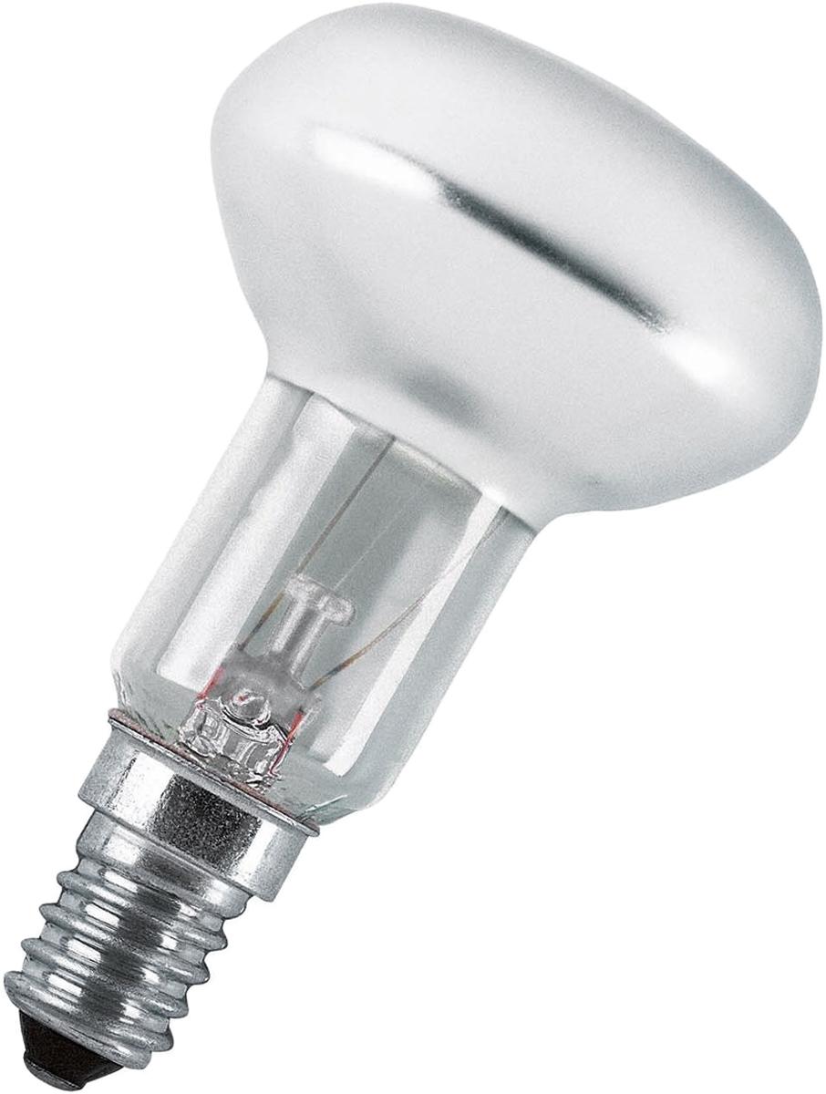 Лампа накаливания Osram Concentra R50 40W E14 40528991804824052899180482Конструкция лампы состоит из стеклянной колбы, заполненной инертным газом. Основу устройства составляет тело накала или вольфрамовая спираль, которая под воздействием электрического тока начинает излучать свечение.Лампы накаливания используются для всеобщего, местного и наружного освещения в быту и промышленности в сетях переменного тока напряжением 220 В частотой 50 Гц