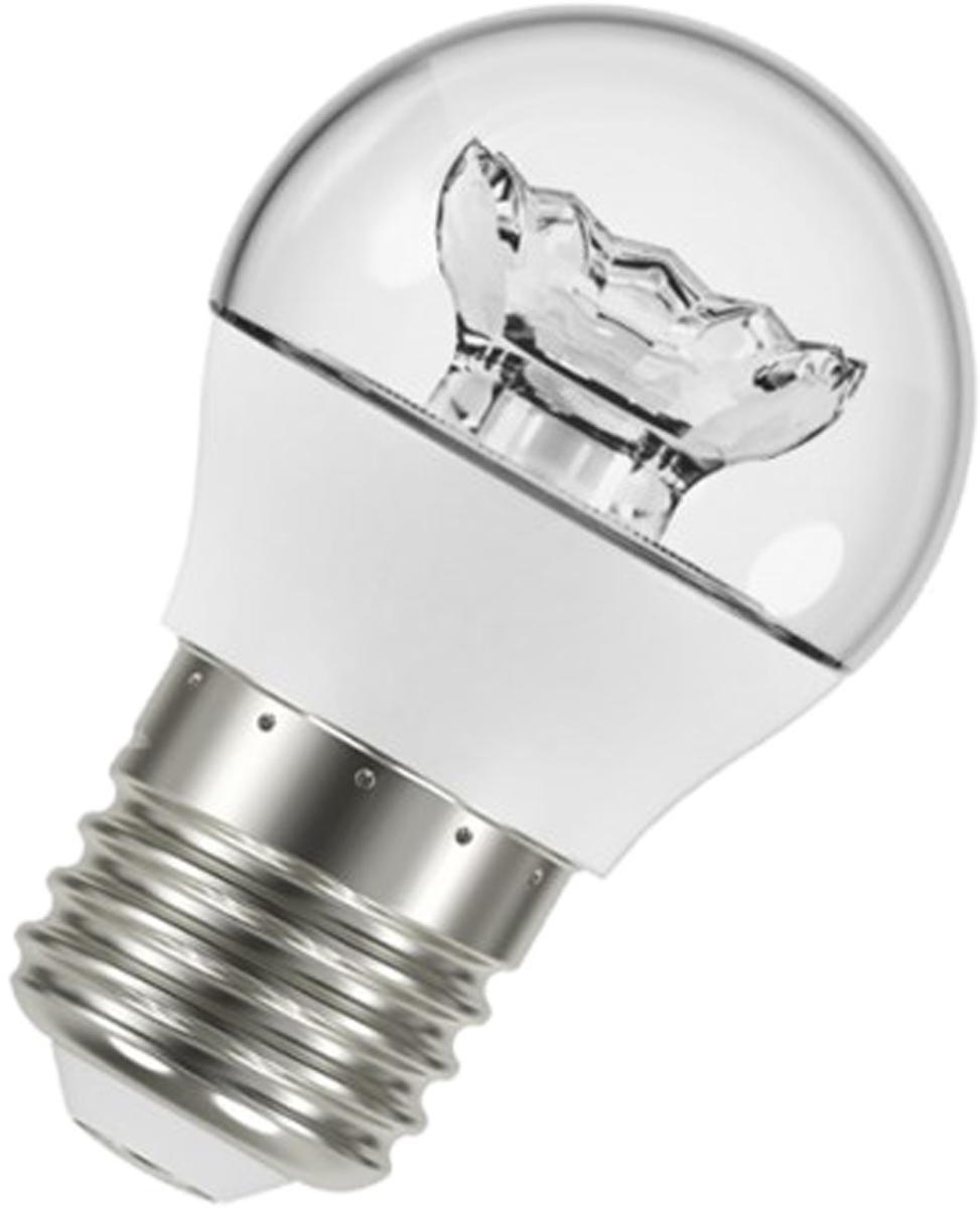 Лампа светодиодная Osram LED Classic P 40 5.4W/830 230V CL E27 40528999716394052899971639LED CLASSIC P светодиодные лампы шарообразной формы. В качестве источника света используют светодиоды (англ. Light-Emitting Diode, сокр. LED), применяются для бытового, промышленного и уличного освещения. Светодиодная лампа является одним из самых экологически чистых источников света. Принцип свечения светодиодов позволяет применять в производстве и работе самой лампы безопасные компоненты. Светодиодные лампы не используют веществ, содержащих ртуть, поэтому они не представляют опасности в случае выхода из строя или повреждения колбы.