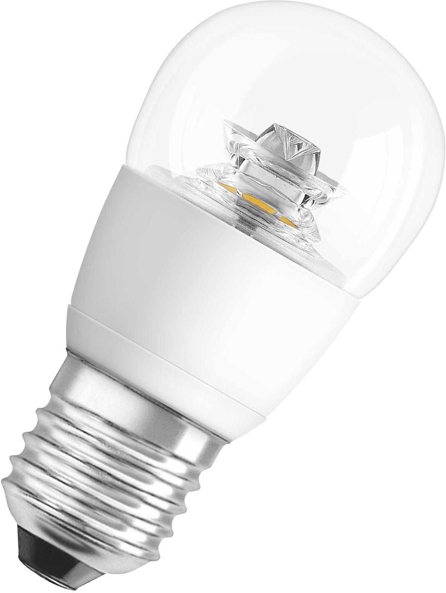 Лампа светодиодная Osram Star Classic P 40 6W/827 220-240V CS E27 40528992150474052899215047Светодиодные энергосберегающие лампы потребляют на 70% меньше электроэнергии, что не только экономит деньги, но и снижает нагрузку на проводку. Свет, который излучают светодиодные светильники, не раздражает глаза и может быть разным по интенсивности и световой температуре. Они легко монтируются в стены и потолки, в том числе и в натяжные. Разнообразный дизайн позволяет подобрать светодиодные лампы для любого пространства.