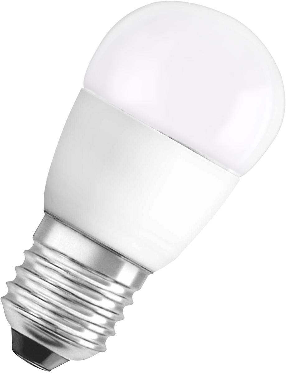 Лампа светодиодная Osram Star Classic P 40 6W/827 220-240V FR E27 40528992150784052899215078LED STAR CLASSIC P светодиодные лампы шарообразной формы. В качестве источника света используют светодиоды (англ. Light-Emitting Diode, сокр. LED), применяются для бытового, промышленного и уличного освещения. Светодиодная лампа является одним из самых экологически чистых источников света. Принцип свечения светодиодов позволяет применять в производстве и работе самой лампы безопасные компоненты. Светодиодные лампы не используют веществ, содержащих ртуть, поэтому они не представляют опасности в случае выхода из строя или повреждения колбы.
