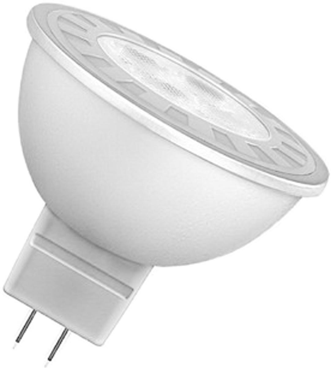 Лампа светодиодная Osram Star MR16 35 35 6.5W/827 12V GU5.3 40528992170654052899217065Светодиодные энергосберегающие лампы потребляют на 70% меньше электроэнергии, что не только экономит деньги, но и снижает нагрузку на проводку. Свет, который излучают светодиодные светильники, не раздражает глаза и может быть разным по интенсивности и световой температуре. Они легко монтируются в стены и потолки, в том числе и в натяжные. Разнообразный дизайн позволяет подобрать светодиодные лампы для любого пространства.